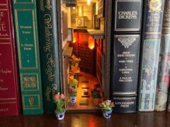 Обычные книжные полки превращаются в маленькие фантастические миры