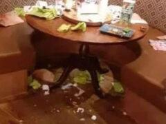 Пообедавшее семейство подверглось осуждению за свинство