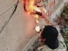 Художник научился рисовать огнём