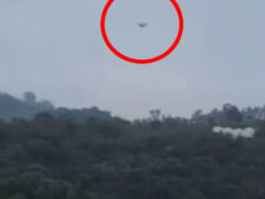 Таинственный летательный аппарат приземлился на глазах у очевидцев