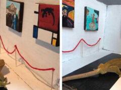 Благодаря хозяйке-выдумщице геккон посетил картинную галерею