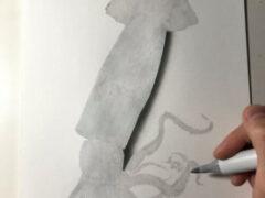 Кальмар, изображённый в гиперреалистичной манере, выглядит как настоящий
