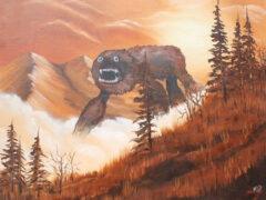 Художник населяет старые картины выдуманными монстрами