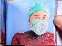 Художник превращает медицинских работников в супергероев