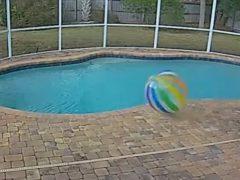 Вовремя открывшаяся дверь помогла мячу совершить побег
